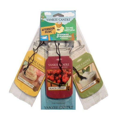 CAR JAR VARIETY PACK AFTERNOON PICNIC (BLACK CHERRY + VANILLA LIME + VANILLA CUPCAKE)
