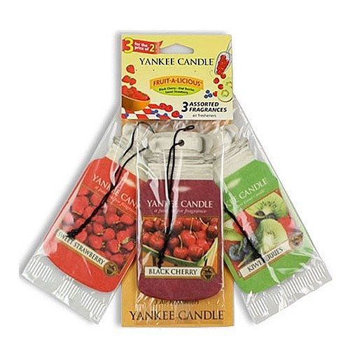 CAR JAR VARIETY PACK FRUIT A LICIOUS (BLACK CHERRY + KIWI BERRIES + SWEET STRAWBERRY)