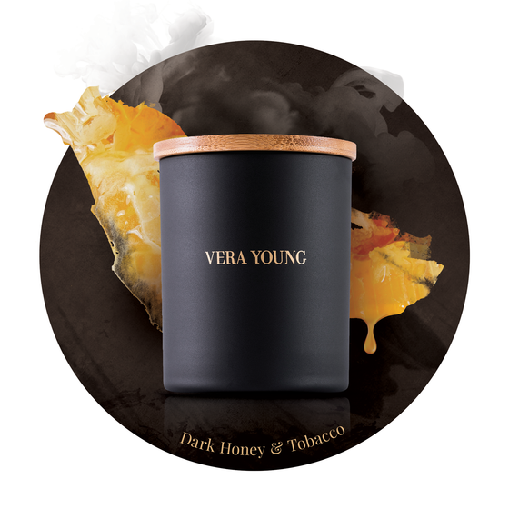 ŚWIECA VERA YOUNG SPLENDID DARK HONEY & TOBACCO